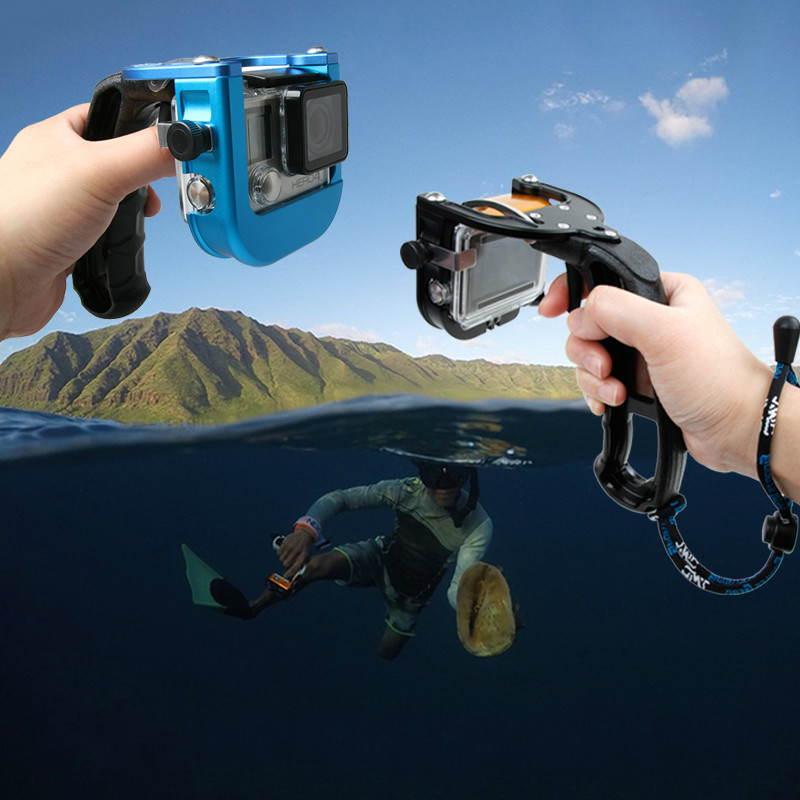 GoPro Accessories Swimming Diving Single Hand Selfie Stick Support Hand Shutter Trigger for Xiaomi Yi Go Pro Hero 5 Black SJcam nuova набор жестяная банка для сыпучих продуктов 5шт оливки
