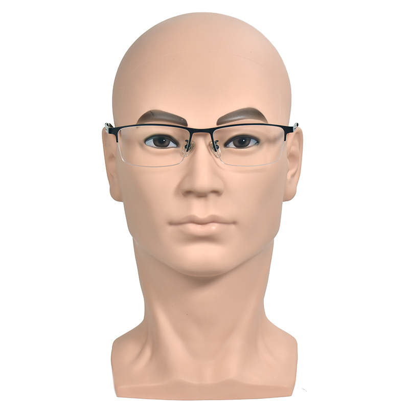 """Male MANNEQUIN 11/"""" head with holder base display wig hat glasses"""