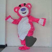 Fur Teddy Bear Mascot Costume Teddy Costume Adult Fancy Dress Clothing Halloween Party Suit Funny Animal Bear Costume