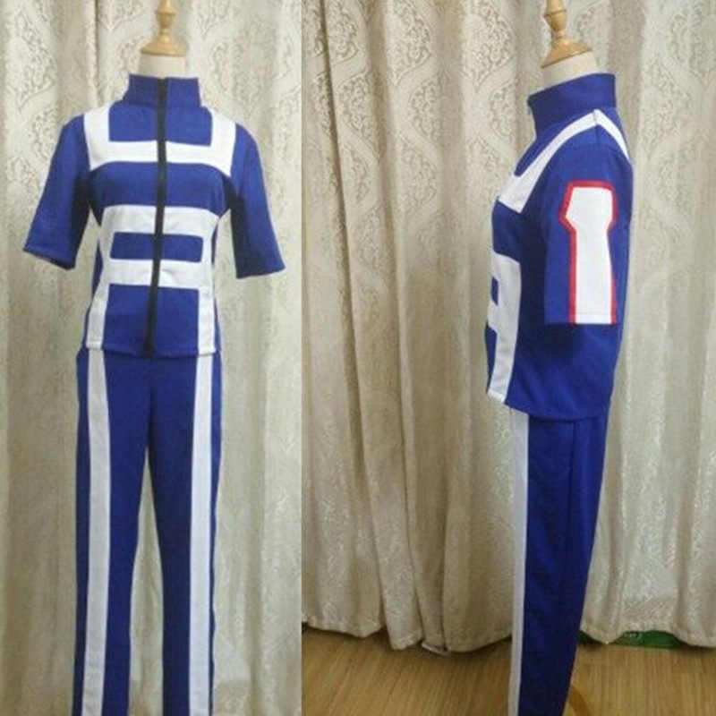(XS-XXL) boku לא גיבור אקדמיה שלי גיבור אקדמיה כל התפקידים חדר כושר חליפת גבוהה ספורט תלבושת בית ספר ללבוש תלבושת אנימה Cosplay תלבושות