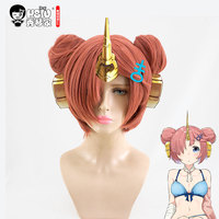 HSIU NEW High Quality Frankenstein Cosplay Wig Fate Apocrypha Costume Play Wigs Halloween Costumes Hair Free
