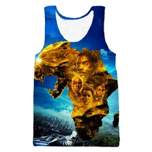 PLstar Cosmos 2018 summer New Style casual Fitness Tank Tops Movie Black Panther 3D print Men Women Hipster Vest tops