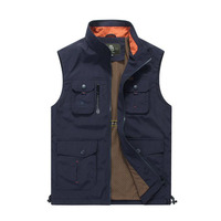 Casual Vest Men Summer Autumn Thin Men's Sleeveless Vest Breathable Multi pockets Quick Dry Mesh Waistcoat hombre TOPS