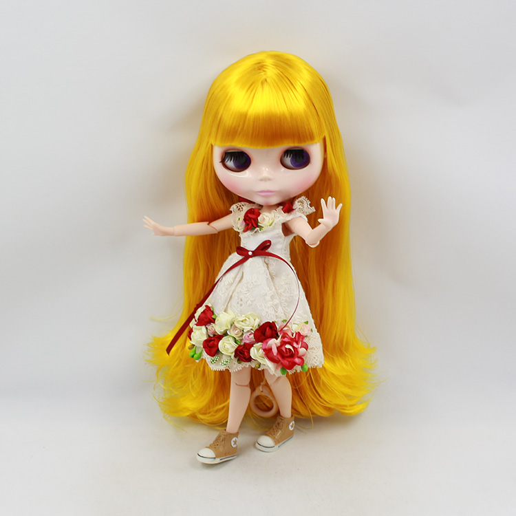 Blyth doll joint body diy blonde long hair nude fashion blyth doll model DIY bjd dolls for girls