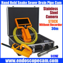 30M Hand Held 512HZ Sonda transfer and 512 sonda Receiver Snake UnderWater Sewer Drain Pipe Inspection Endoscope Camera