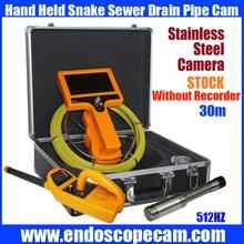 30M Hand Held 512HZ Sonda transfer and 512 sonda Receiver Snake UnderWater Sewer Drain Pipe Inspection