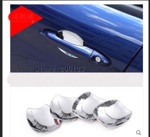 4pcs/set Car accessories ABS Mirror Polish Exterior Door Bowl Cover Trim For Alfa Romeo Giulia Stelvio 2017 Car styling