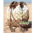 Tassel Straw Bag Woven Beach Shoulder Bag White Women Bag