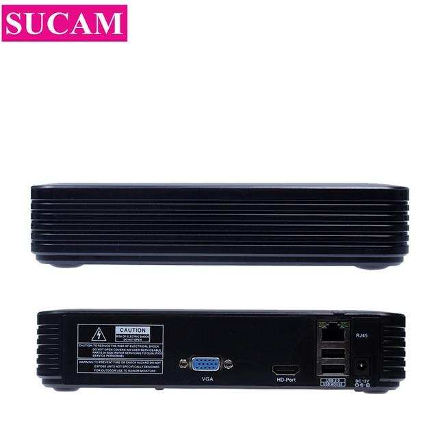 Mini NVR Full HD 4CH 5MP 8CH 4MP Security กล้องวงจรปิด NVR ONVIF Recorder สำหรับ 2MP 4MP 5MP IP กล้องระบบ Motion Detection