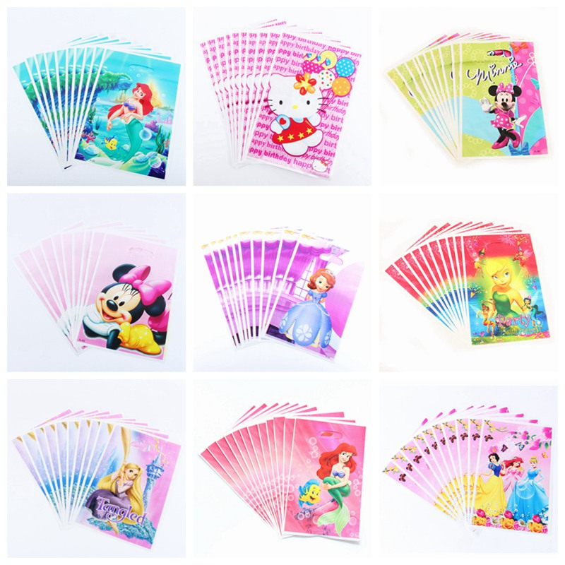 50pcs Gift bag Loot Bag Kitty princess beauty and the