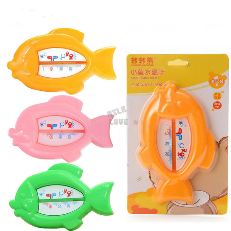 Cartoon Floating Fish Lovely Plastic Float Toy Baby Bath Tub Water Sensor Thermometer Monitor tester thermometer