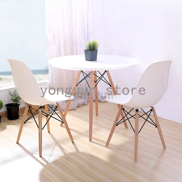 Modern Dining Room Furniture Chair Minimalist Home Furnitures Plastic And Wood Fashion Chairs