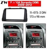 Auto DVD Player rahmen Für 2009 2012 KIA SORENTO 2DIN Auto AC Schwarz LHD RHD Auto Radio-in Faszien aus Kraftfahrzeuge und Motorräder bei