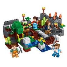 Brinquedos 4 Tipo Minecrafted Grupo Da Cidade Blocos de Construção Figuras Bricks Brinquedos Educativos Para Crianças Compatível Legoing Minecraft Cidade