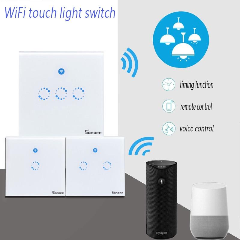 Sonoff T1 Wifi Licht Schalter 1 2 3 Gang Drahtlose Smart Home RF/APP ...