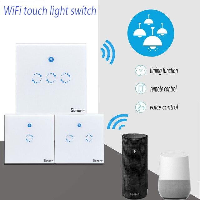 Sonoff T1 Wifi Light Switch 1 2 3 Gang Wireless Smart Home RF/APP ...