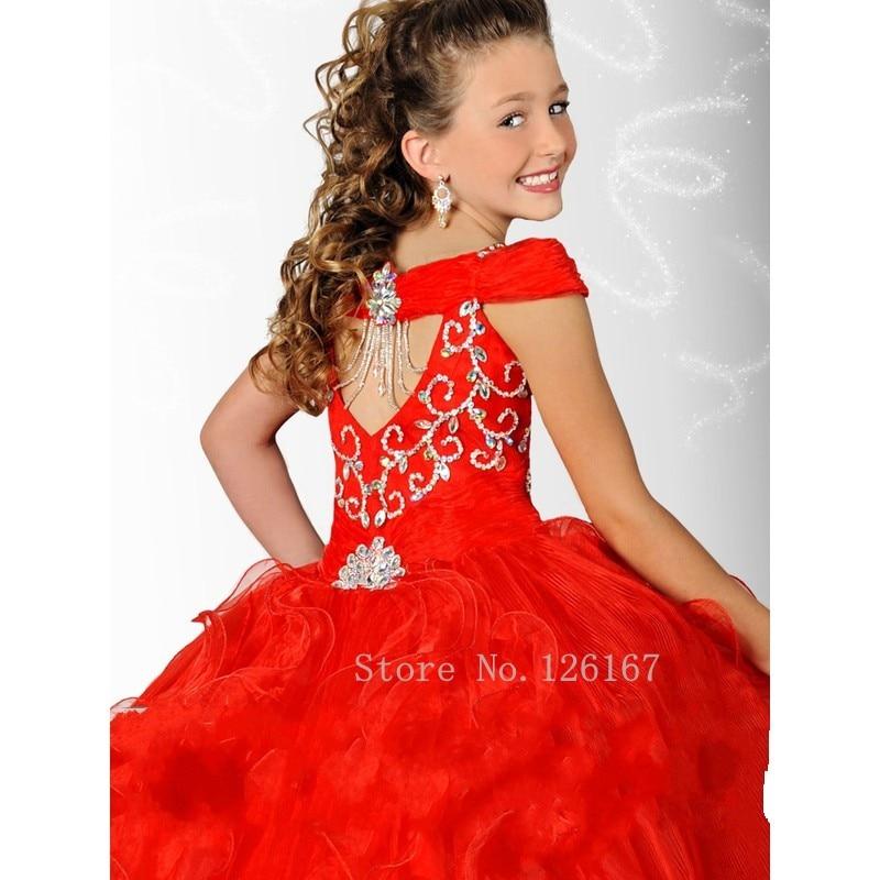 Vestidos elegantes rojos para ninas