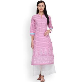 Woman Ethnic Styles Printing Costume Cotton Kurtas
