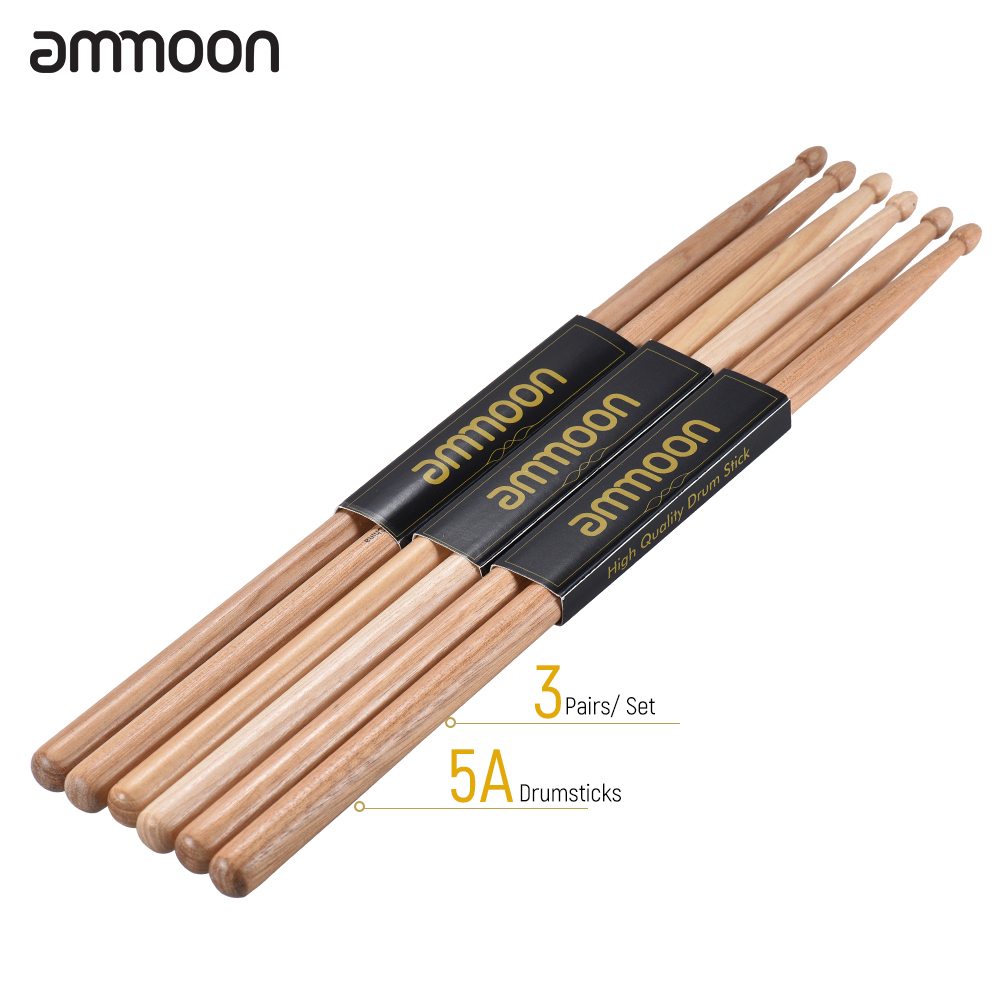 buy ammoon 3 pairs of 5a 7a wooden drumsticks drum sticks walnut wood drum set. Black Bedroom Furniture Sets. Home Design Ideas
