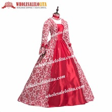 Купить с кэшбэком Best Seller Vintage Print Dress 18th Century Marie Antoinette Dress Ball Gown Reenactment Theatre Clothing Costume