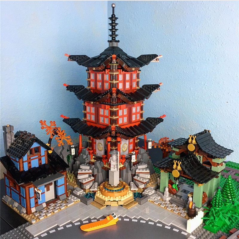 Lepin 06022 2150PCS The Temple of Airjitzu Sets Model Building Kits Blocks Bricks Toys For Children Compatible 70751 compatible ninja 70751 lepin 06022 2150pcs blocks ninja figure temple of airjitzu toys for children building bricks 70603 gifts