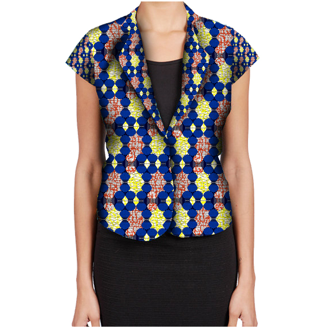 Fashion African Print Women Suit Jacket Africa Festive Ladies Short Sleeve Tailored Blazers For Party Cutomize Africa Clothing 2