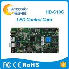 HD-C10C cololr full cartão de controle conduzido para o Tamanho Personalizado Dimensão e 10mm Pixels Da Tela ao ar livre conduziu o painel ao ar livre indoor