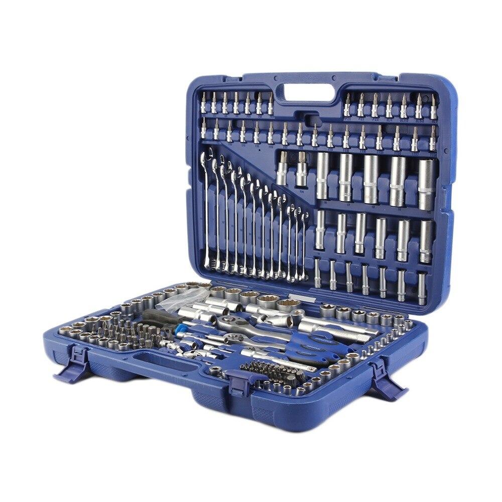 (Le bateau de DE) 215 Pcs Professionnel Prise Ensemble-1/2 pouces 3/8 pouces 1/2 pouces DR/Clés/Torx + Plus Professionnel Tool Set