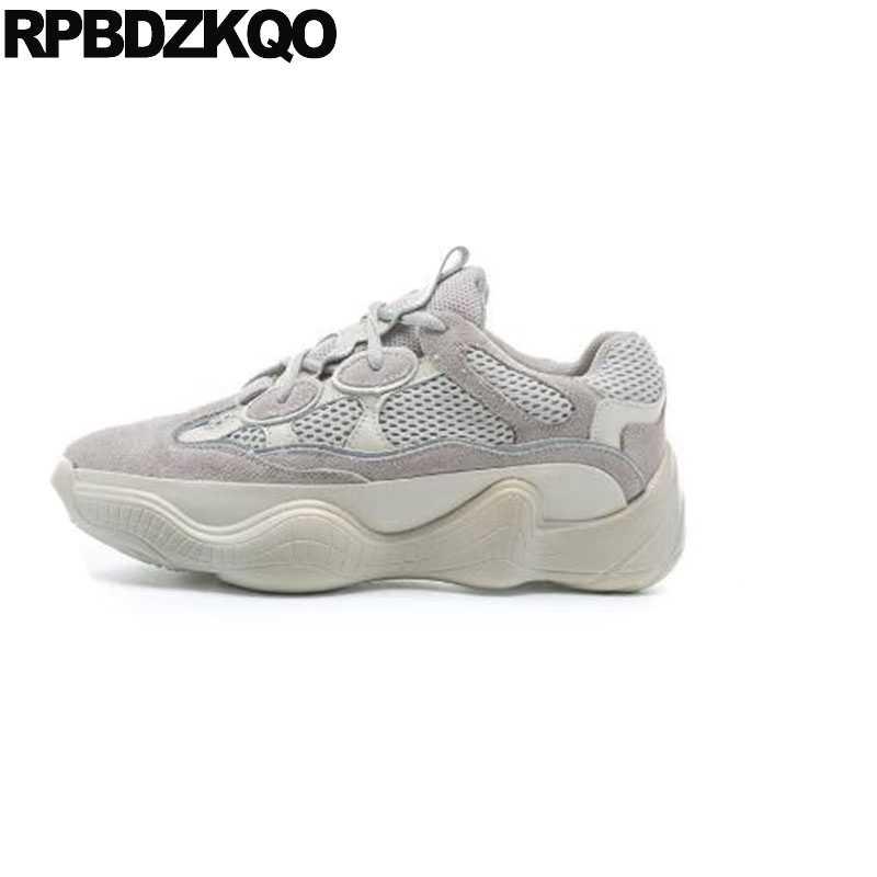 40bb8a2e Дышащие кроссовки Китай серый дизайнерские туфли на плоской подошве на шнуровке  женские кроссовки толстой подошве harajuku