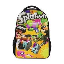 Backpack For Boys Girls Fashion Cool Anime Cartoon Splatoon Letter 3D Printing Bookbag School Bag Rugzak Plecak Mochila Escolar недорого
