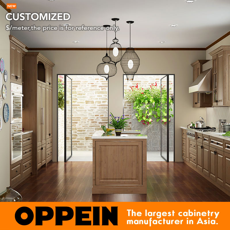 US $402 0 |Indonesia Project Modern Wooden Kitchen Cabinets Customized  Modular Kitchen Cabinets OP15 PP07-in Kitchen Cabinets from Home  Improvement on