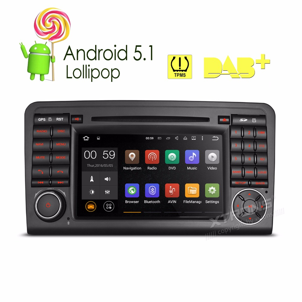 Xtrons Android Car Dvd Player For Mercedes Benz Ml Class W Ml Ml