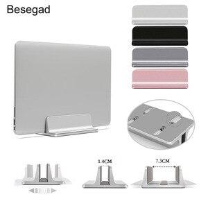 Soporte Vertical ajustable Besegad para ordenador portátil, soporte de aluminio para Apple MacBook Pro Mac Book Lenovo YOGA Notebook