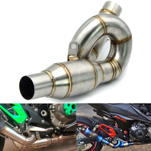 Motorcycle Connecting Mid Link Pipe Slip on Exhaust for Kawasaki Z800 2013 2014 2015 2016 2017 Exhaust Pipe Connector Adapter motorcycle exhaust contact middle mid link pipe connector for aprilia rsv4 factory aprc 2012 2013 2014 2015 100% brand new