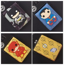 Marvel Super Heroes Batman superman The Flash Q versión carteras cosplay cartoon Bifold unisex wen & women Purse 3 style