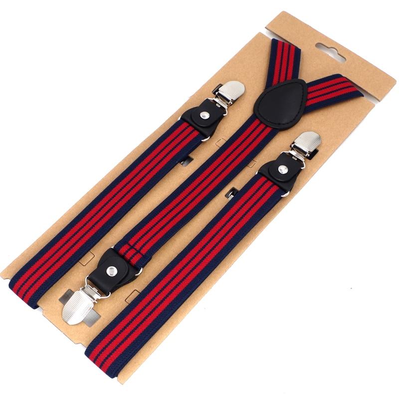 JIERKU Suspenders Mans Braces Leather 3 Clips Suspensorio Fashion Trousers Strap Father/Husbands 2.5*120cm
