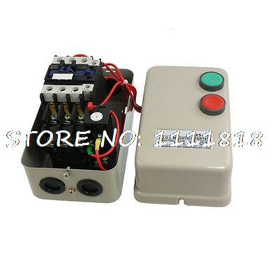 36V AC Coil Contactor 11KW 15 HP 3 Phase Motor Control Magnetic Starter 14-22A chint electromagnetism starter magnetic force starter qc36 10t motor starter phase protect magnetic force switch