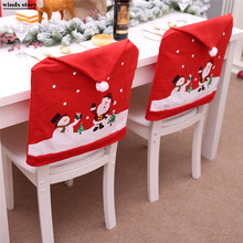 Christmas Chair Covers The Range How To Make Dining Room Popular Kitchen Buy Cheap 2pc Santa Claus Elk Red Hat For Xmas Party Dinner Decor Home Decoration Natal Ornaments Supplies