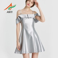 b29074c9bd ANTI Fast Shipping Homecoming Dresses High Quality Silver Short Tight Dress  2019 Strapless Sling Vestido de formatura In Stock