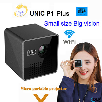 Original UNIC P1 Plus Wireless Mobile Projector Support Miracast DLNA Pocket Proyector Home Movie Projector DLP Beamer Battery