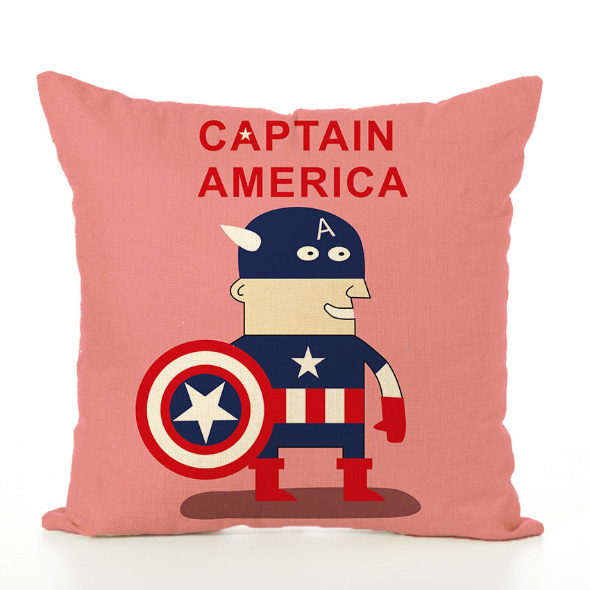 45x45cm Cartoon Avengers Pillowcase Cushion Case Cute Soft Covers Children Adult boy girl gift Linen material no filling image