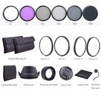 67MM Lens Filter Kit Macro Close Up Set & UV CPL FLD with Pouch for Nikon Canon 67mm camera lens