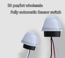 50PCS waterproof Automatic AS-20 Auto On Off Photocell street Light Lamp Switch 220V 50-60Hz 10A Photoswitch Sensor Switch 10pcs photocell light 220v 10a waterproof photo control photoswitch sensor switch used in highway garden street automatic on off