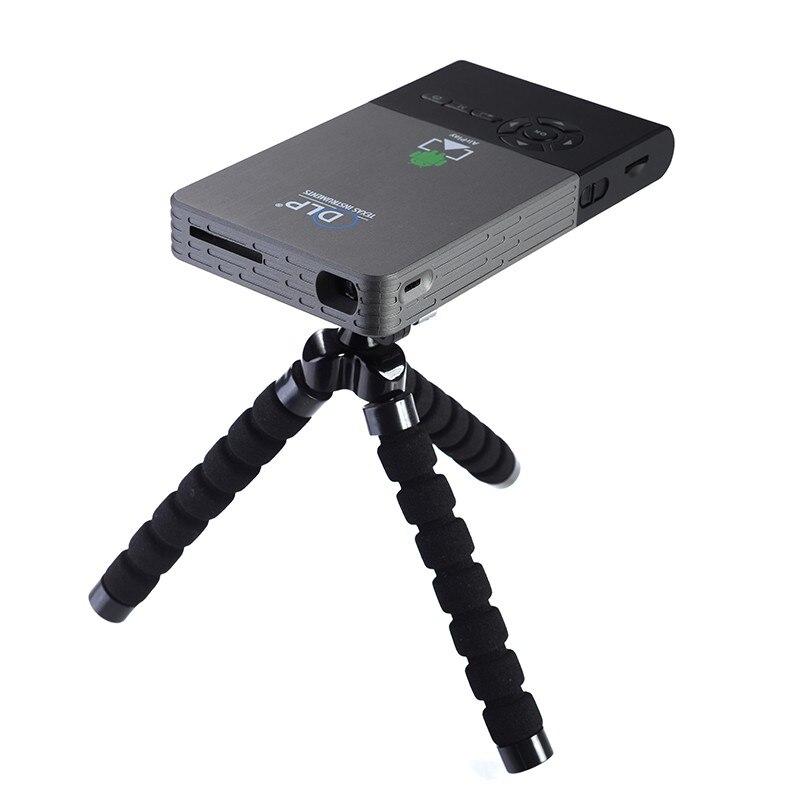 Progetto proiettore tascabile c2 proiettore dlp full hd Wifi Portatile Android OS 1G/8G LED home cinema bluetooth4.0 proiettore mini pc