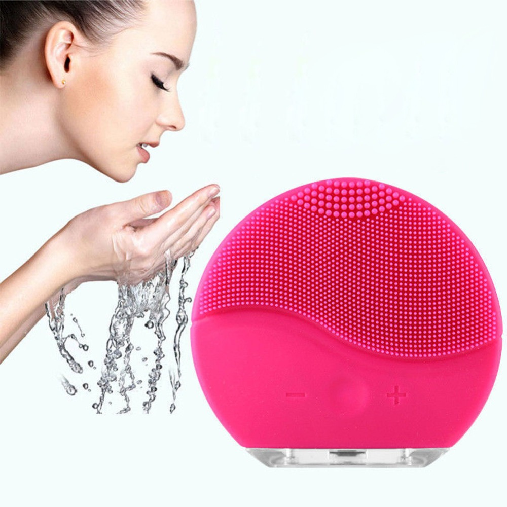 mini2 Ultrasonic Electric Facial Cleansing Brush Vibration Skin Remove Blackhead Pore Cleanser Waterproof Silicone Face Massager meiye facial cleansing atomizing pore cleanser instrument atomizer electric face massager skin care beauty cleansing tools