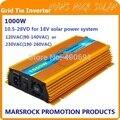 1000 W Micro grade tie inversor solar, Pura onda senoidal, Função de MPPT para 18 V ( 10.5V ~ 28VDC ), 90 V - 140 V / 180V ~ 260vac, 50 Hz - 60 Hz
