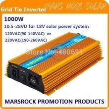 1000 W Mikro ızgara kravat Güneş Invertör, Saf Sinüs Dalgası, MPPT fonksiyonu ile 18 V (10.5V ~ 28VDC), 90 V-140 V/180V 260VAC, 50Hz-60Hz