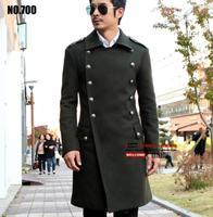 S 6XL! Классический Шерстяной Тренч пальто мужской зимняя куртка мужчин Slim Мода длинное пальто восстановить шерстяное пальто мужские пальто!