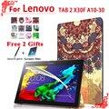 Стенд Pu кожаный чехол чехол Для Lenovo TAB 2 X30F A10-30 10.1 tablet чехол для lenovo tab 2 A10-30 + бесплатная 2 подарков