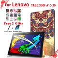 Stand Pu leather case cover For Lenovo TAB 2 X30F A10-30 10.1 tablet case for lenovo tab 2 A10-30 case + free 2 gifts